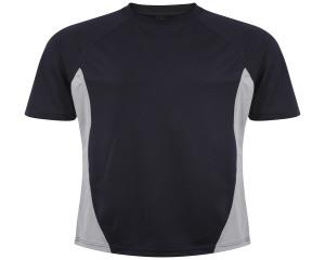 Image of Airosportswear Training T Shirts Navy/Silver