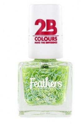 Afbeelding van 2b Nagellak mega colours 612 feathers green 1 stuk