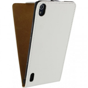 Afbeelding van Mobilize Ultra Slim Flip Case Huawei Ascend P7 White