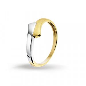 Afbeelding van 4205344 Bicolor gouden ring 47