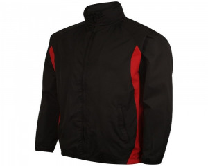 Image of Airosportswear Tracksuit Top/ Shower Jackets Black/Red