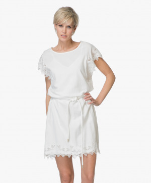Abbildung von Closed Dress Zahara Embroidery Ivory