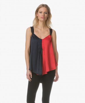 Obrázek By Malene Birger Top Bright Red Willyh Two Tone Satin