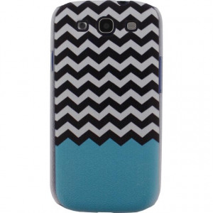 Afbeelding van Xccess Cover Samsung Galaxy SIII I9300 Turquoise Stripes