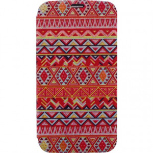 Afbeelding van Xccess Book Stand Case Samsung Galaxy S5/S5 Plus/S5 Neo Aztec Orange