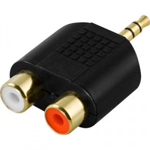 "Bild av ""multimedia adapter, 2xRCA hona till 3,5mm hane"""
