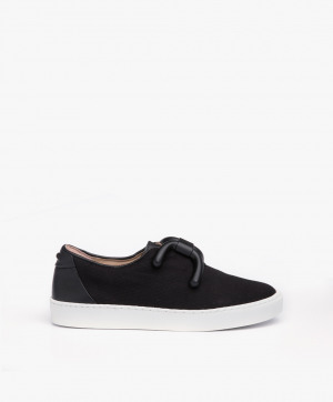Zdjęcie An Hour And A Shower Sneakers Livia Low in Black Canvas