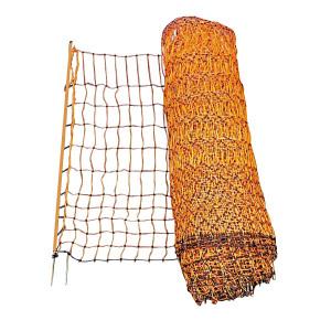 Abbildung von Ako Geflügelnetz, 112cm Doppelspitze Orange 50m