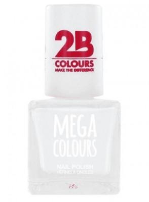 Afbeelding van 2b Nagellak mega colours 623 white 1 Stuk