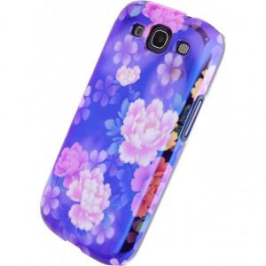 Afbeelding van Xccess Oil Cover Samsung Galaxy SIII I9300 Purple Flower