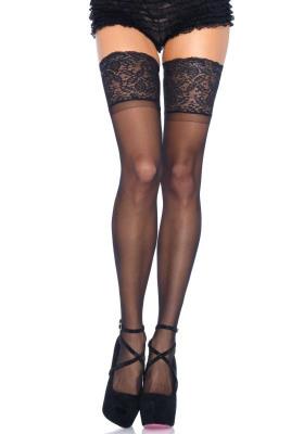 Afbeelding van Hold Up Kousen Zwart Maat: Plus Size (42 44) Van Leg Avenue