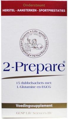 Afbeelding van 2 prepare L Glutamine Poeder Egcg Sachets 150 Mg, 15