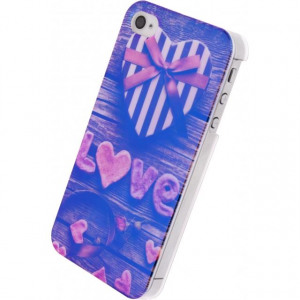 Afbeelding van Xccess Oil TPU Case Apple iPhone 4/4S Love Heart