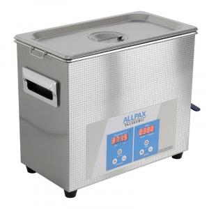 Abbildung von 6,5 Liter Ultraschallreiniger Palssonic 150 W, Edelstahl, 40 kHz, 300 W Heizleistung, Ultraschallbad 325 x 180 x 280 mm
