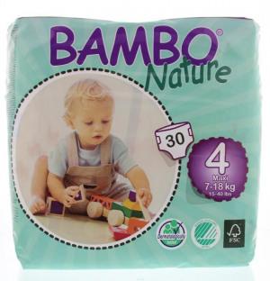 Afbeelding van Bambo Babyluier Maxi 4 7 18 Kg, 30 stuks