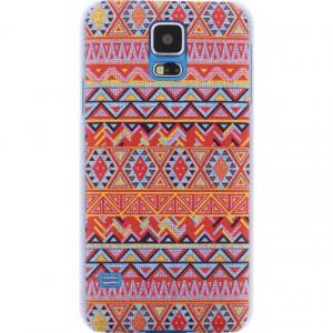 Afbeelding van Xccess Cover Samsung Galaxy S5/S5 Plus/S5 Neo Orange Aztec