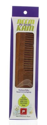 Afbeelding van Holisan Neem houten kam recht combi (1 stuks)