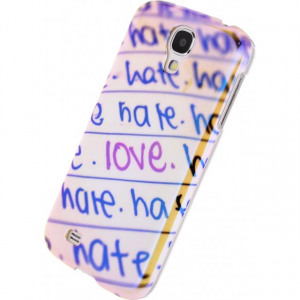 Afbeelding van Xccess Oil Cover Samsung Galaxy S4 I9500/I9505 Love&Hate