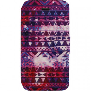 Afbeelding van Xccess Book Stand Case Apple iPhone 4/4S Aztec Purple