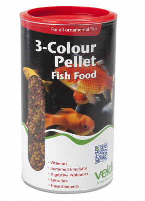 Afbeelding van 3 Colour Pellet Food 470 g 1250 ml