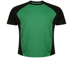 Image of Airosportswear Training T Shirts Black/Emerald