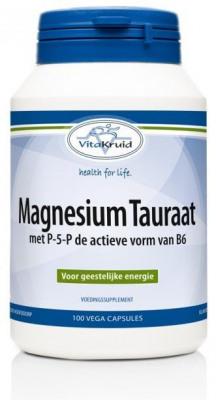 Afbeelding van Vitakruid Magnesium tauraat b6 100 vegetarische capsules