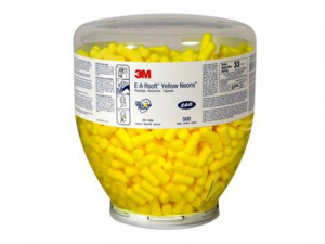 Afbeelding van 3M E A R PD 01 002 E A Rsoft Yellow Neon oordoppen navulling voor One Touch dispenser 36dB (500st)