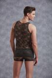 Afbeelding vanMannenhemd Met Bloemenpatroon Zwart Heren Shirts