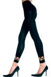 Afbeelding vanLeggings Lange Legging Met Opengewerkte Onderkant Zwart One Size Music Legs