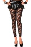 Afbeelding vanLeggings Transparante Legging Met Bloemendesign Zwart One Size Music Legs