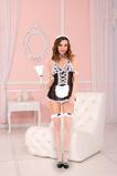 Afbeelding van4 Delig Sexy Dienstmeisje Kostuum, Zwart Maat: One Size Van Musiclegs