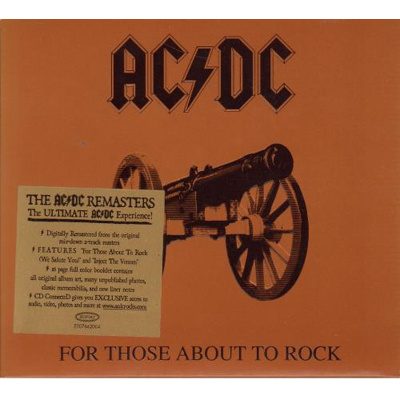 Image of AC/DC For Those About To Rock (We Salute You) 2003 UK CD album EPC5107662
