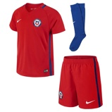 Image of2016 Chile Stadium Home/Away Younger Kids' Football Kit (3-8) - Red