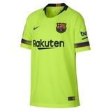 Image of2018/19 FC Barcelona Stadium Away Older Kids' Football Shirt - Yellow