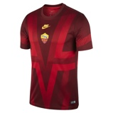 Εικόνα τουA.S. Roma Men's Short Sleeve Football Top Red