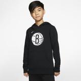 Imagine dinBrooklyn Nets Logo Older Kids' Nike NBA Pullover Hoodie Black