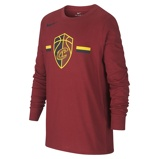 Imagine dinCleveland Cavaliers Nike Dri FIT Logo Older Kids' Long Sleeve NBA T Shirt Red