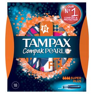 Afbeelding van 8x Tampax Compak Pearl Super Plus 18 stuks