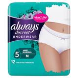 Afbeelding van2x Always Discreet Underwear Normal M 12 stuks