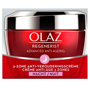 Afbeelding van 4x Olaz Regenerist 3 Zone Anti Verouderings Nachtcreme 50 ml