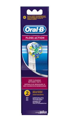Afbeelding van 6x Oral B Opzetborstels Floss Action 2 stuks
