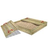 Billede afFatmoose Sandkasse med låg BuddyBox Træsandkasse