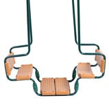 Image ofWickey Double swing seat Baboon, swings for children
