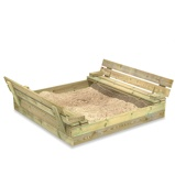 Image ofFatmoose SandSeat sandpit with lift up lid