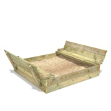 Image ofFatmoose SandSeat XL sandpit from wood available in 2 sizes