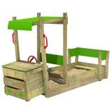 Image ofFatmoose PowerPulley wooden car sandpit Children's sandpit