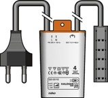 Afbeelding vanNiko elektronische trafo tronic 35 105W met eurostekker en Q verdeelblok 320 00115