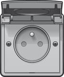 Afbeelding vanNiko hydro wandcontactdoos wcd 1 voudig penaarde schroef 700 36600