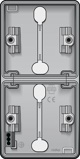 Afbeelding vanNiko hydro onderbak 2 voudig verticaal met 2x tule 700 83201