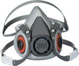 Afbeelding van3M 6200 Halfgelaatsmasker Grijs M Halfgelaatsmaskers Met Bajonetaansluiting